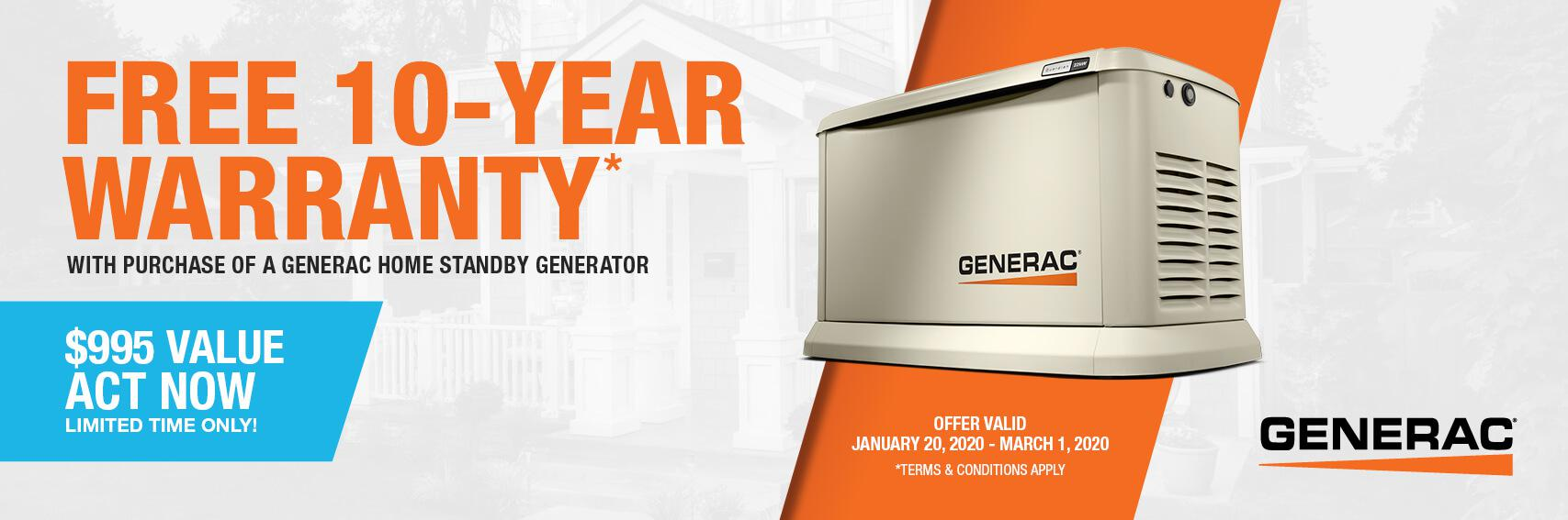 Homestandby Generator Deal | Warranty Offer | Generac Dealer | Newaygo, MI